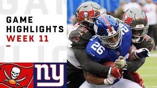 Download Buccaneers vs. Giants Week 11 Highlights | NFL 2018 Video
