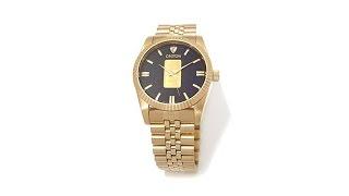 Download Croton Gold Ingot Goldtone Link Bracelet Watch Video