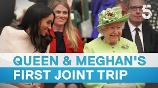 Download Queen and Meghan Markle make first joint visit - 5 News Video