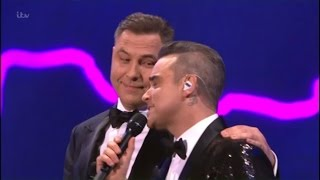 Download Robbie Williams & David Walliams sing a duet, very funny - The Royal Variety Performance 2016 Video