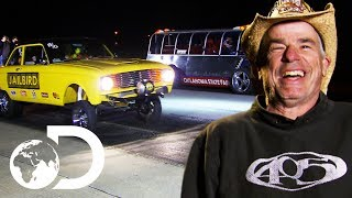 Download AZN and Farmtruck Take On Four Opponents In The Gonorail | Street Outlaws Video
