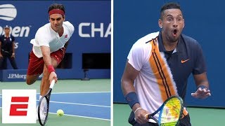 Download 2018 US Open highlights: Roger Federer beats Nick Kyrgios in 3rd round, wows with crazy shot | ESPN Video