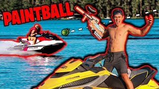 Download PAINTBALL JET SKI OBSTACLE COURSE! Video