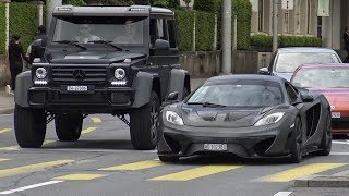 Download Supercars in Zürich Vol.111 - (2x Aventador, New AMG GTC, 2x F12, Tuned McLaren MP4 & 650s) Video