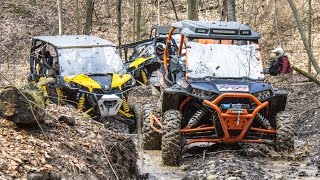 Download Spring SXS + ATV Beat Down - UTV + ATV Trail Riding Comparison - Polaris vs Can-Am Video