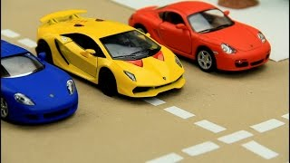 Download Kids video about Race Cars & Sports Car Race in the City for children Video