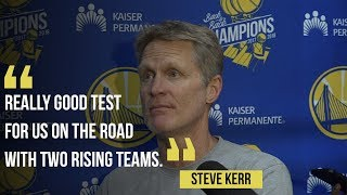 """Download Warriors coach Steve Kerr: """"Altitude"""" could help Golden State """"over the hump"""" in upcoming games Video"""