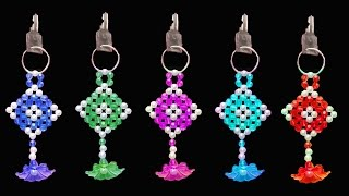 Download How To Make Crystal Beads Key Chain || Beaded Keychains || You Can Do This Video