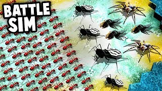 Download 1000 FIRE ANTS Army vs Giant SPIDERS! (Empires of the Undergrowth NEW Battle Simulator Mode) Video