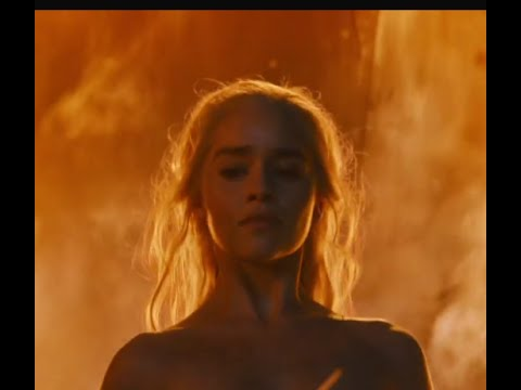 Game of Thrones S06E04 Ending - Daenerys burns the dothraki leaders