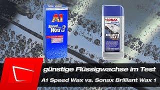 Download A1 Speed Wax Plus 3 vs. Sonax Brilliant Wax 1 im Test - günstige Flüssigwachse im Vergleich Video