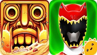 Download Temple Run 2 vs Power Rangers Dino Charge Video