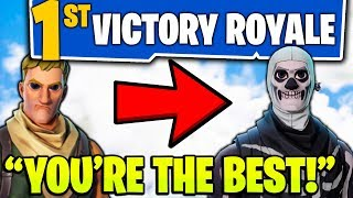 Download MAKING A KIDS DAY ON FORTNITE!!! - (BUYING FIRST *NEW* FORTNITE SKIN & HELPING WIN FIRST GAME!) Video