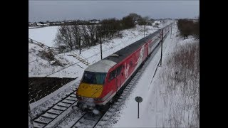 Download 13 Trains & Snow Plough Conquering ″The Beast from the East″ 28/2/18 Video