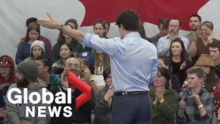 Download Justin Trudeau shuts down hecklers, orders them to leave Video