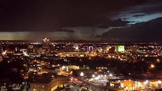 Download TBT: Beautiful monsoon storm over downtown Albuquerque Video