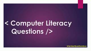 Download computer literacy test questions and answers Video