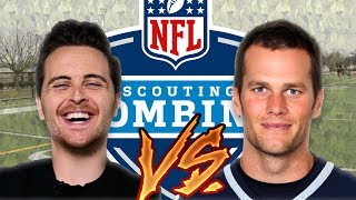 Download Average Guy Takes On Tom Brady At The NFL Combine (NFL Combine Drills) Video