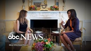 Download Michelle Obama Welcomes Melania Trump to White House Video