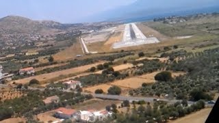 Download AMAZING B737 onboard cockpit video of landing in EXTREME crosswind at Samos. Video