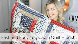 Download Beginner Log Cabin Quilt Block Tutorial Video