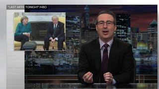 Download John Oliver pokes fun at Trump's meeting with Angela Merkel Video