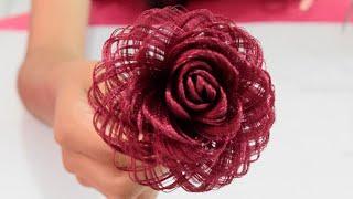 Download Como hacer una rosa de tela // Dia de las madres // Fabric Flowers Roses- Loveluzlop Video
