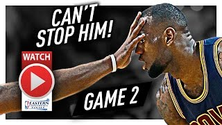 Download LeBron James Full Game 2 Highlights vs Celtics 2017 Playoffs ECF - 30 Pts, 7 Ast in 3 Qtrs, NASTY! Video