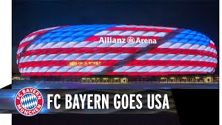 Download FC Bayern goes USA - Allianz Arena leuchtet in Rot, Weiß und Blau Video