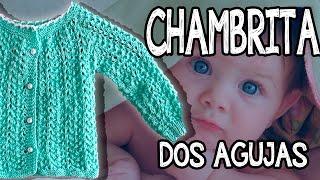 Download Chambrita para Bebé - Fácil - Tejido - Dos agujas Video