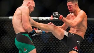 Download Epic Nate Diaz Is A Ninja Lands Big Kick - You Don't Play Fighting EsNews Boxing Video