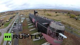 Download Russia: Drone captures mighty Soviet submarine from above Video