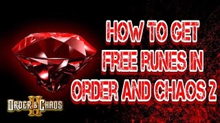 Download Order and Chaos 2: Redemption - Free RUNES - How to get! Video