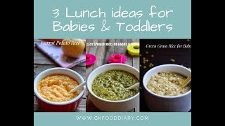 Download 3 Lunch Ideas for Babies | Baby Food Recipes for 8+ Months | Weight Gain Baby Food Video