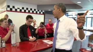 Download President Barack Obama Makes Surprise Visit Video