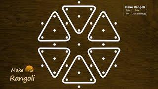 Sikku Kolam Designs Easy Melikala Muggulu With 7 To 4 Dots Easy