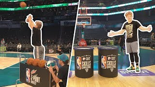 Download Playing in the OFFICIAL NBA ALL STAR Skills Challenge + 3PT Contest 2019 Video
