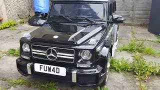 Download Mercedes Benz G63 AMG Kids Ride On Car Review! Video