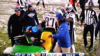 Download Rob Gronkowski gets injured- patriots vs Broncos Video
