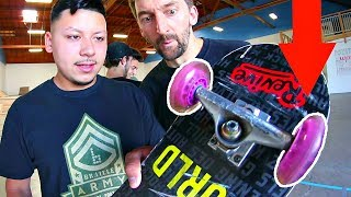 Download ROLLER HOCKEY WHEELS ON A SKATEBOARD! | YOU MAKE IT WE SKATE IT EP 141 Video
