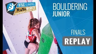 Download IFSC Youth World Championships Moscow 2018 - Bouldering - Finals - Junior Video