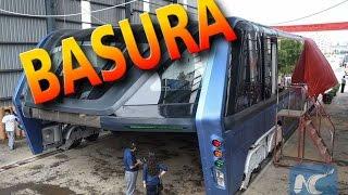 Download El autobús elevado de China es ahora un gran pedazo de basura abandonado Video