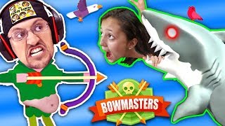 Download MOMMY, CAN I SHOOT A SHARK PWEEEZ?! 🌊 BOWMASTERS Game w/ BAD BABY FGTEEV Duddy Chunky Boy (Skit) Video