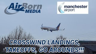 Download Manchester Airport 27/1/19 - Extreme Scary Crosswind Landings Go Arounds and Take Offs Video