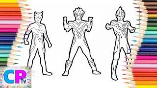 Download Ultraman Zero, Ultraman Victory, Ultraman Ginga Coloring Pages, How to Color Ultraman Coloring Fun Video