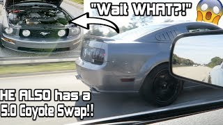 Download I Thought HE had a 3v! lol 5.0 Coyote swap VS Coyote Swap Mustang! *Couldn't Believe it!!* Video