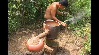 Download Primitive technology wine-making experiments | cooking wine Video