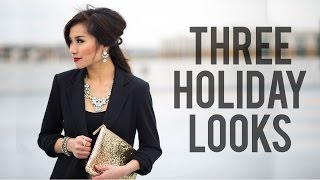 Download 3 Holiday Looks | Christmas & New Year's Eve Outfit Ideas | Miss Louie Video