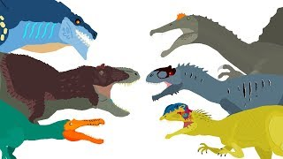 Download Dinosaurs cartoons battles - DinoMania - compilation 2018 | Godzilla vs Zilla Cartoons Video