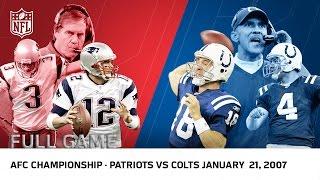 Download Tom Brady vs. Peyton Manning: 2006 AFC Championship | Patriots vs Colts | NFL Full Game Video